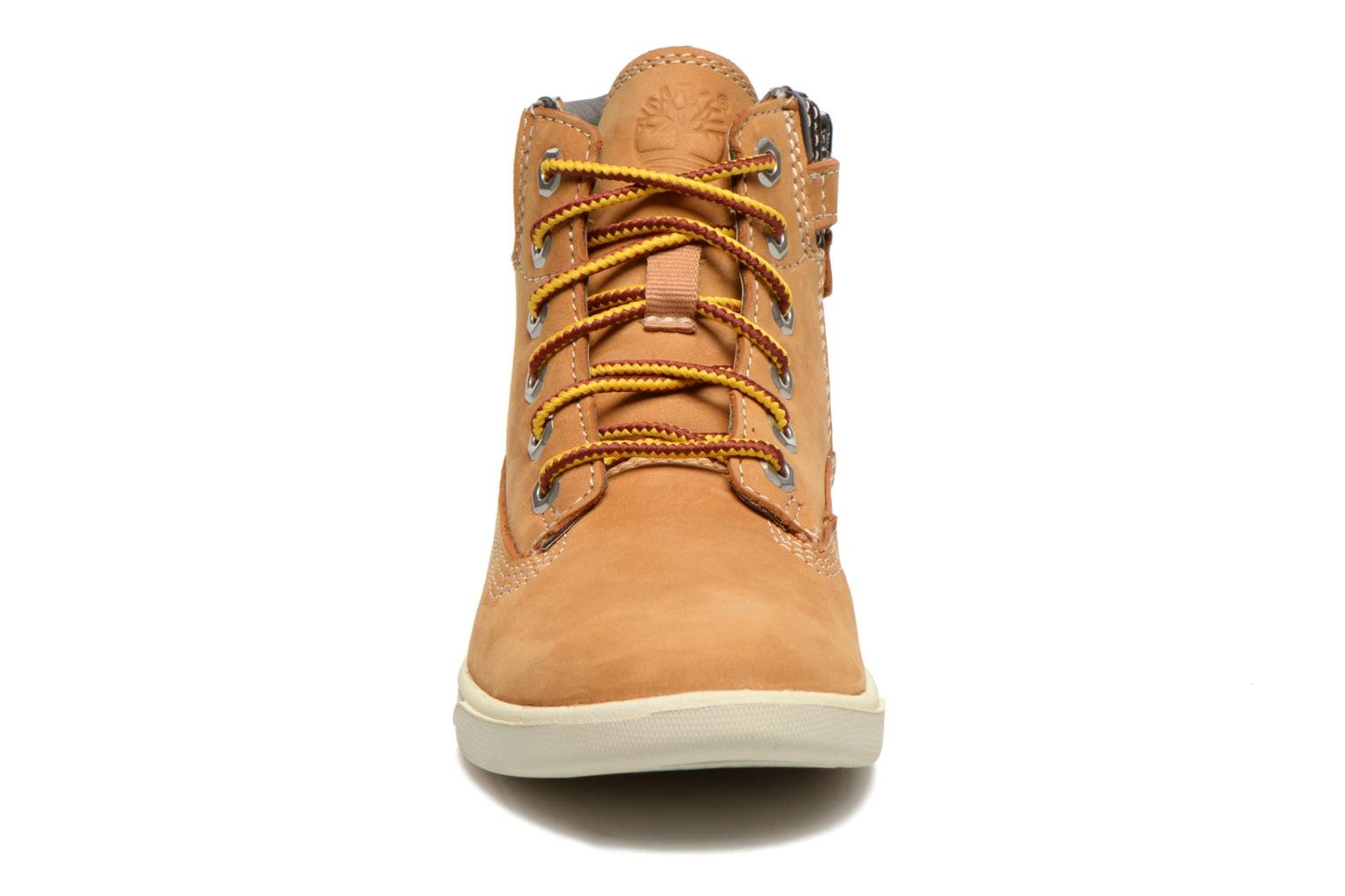 Bottines et boots Timberland Groveton 6In Lace with si Beige vue portées chaussures
