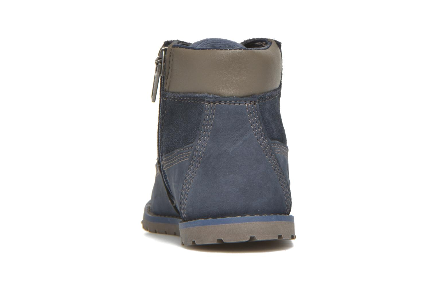 Botines  Timberland Pokey Pine 6In Boot with Azul vista lateral derecha