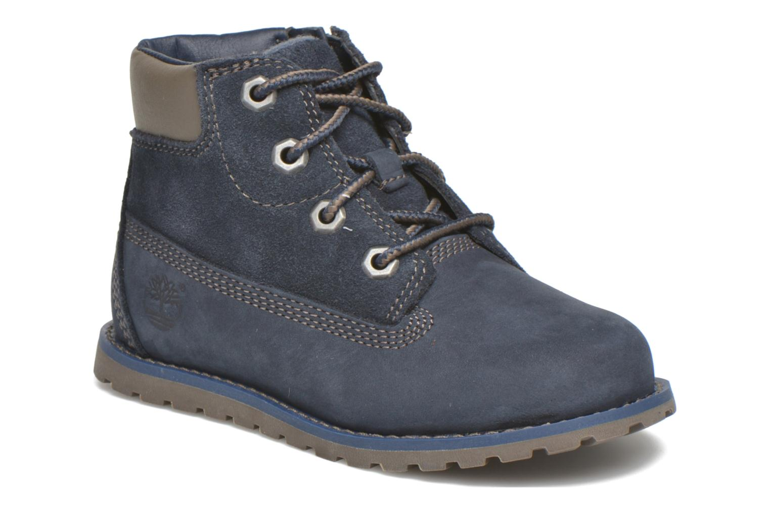 Bottines et boots Timberland Pokey Pine 6In Boot with Bleu vue détail/paire