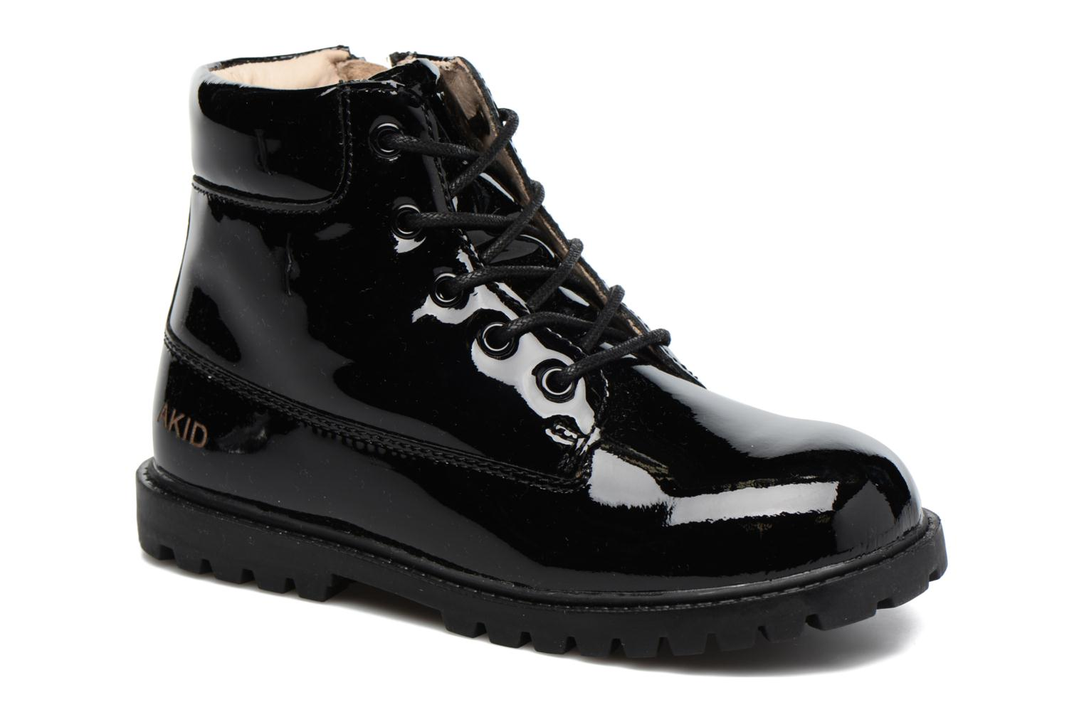 Ankle boots Akid Atticus Black detailed view/ Pair view
