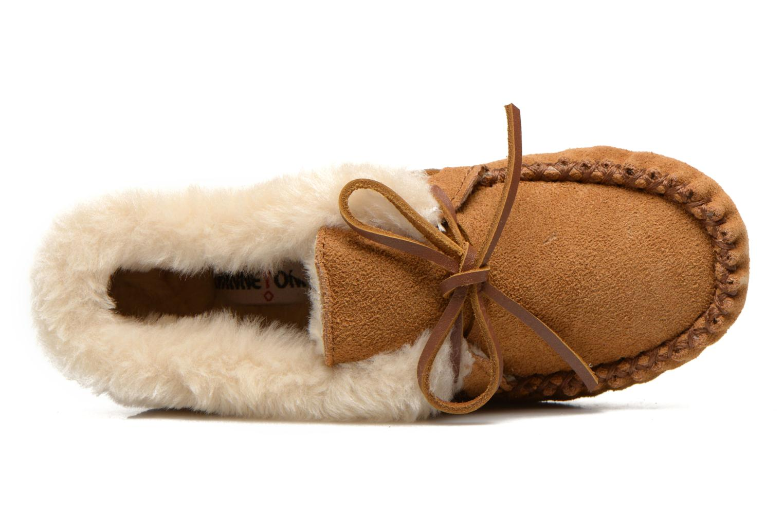 Ankle boots Minnetonka Charley Beige view from the left