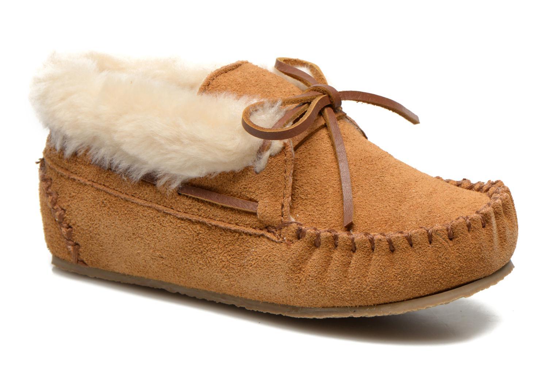 Ankelstøvler Minnetonka Charley Beige detaljeret billede af skoene