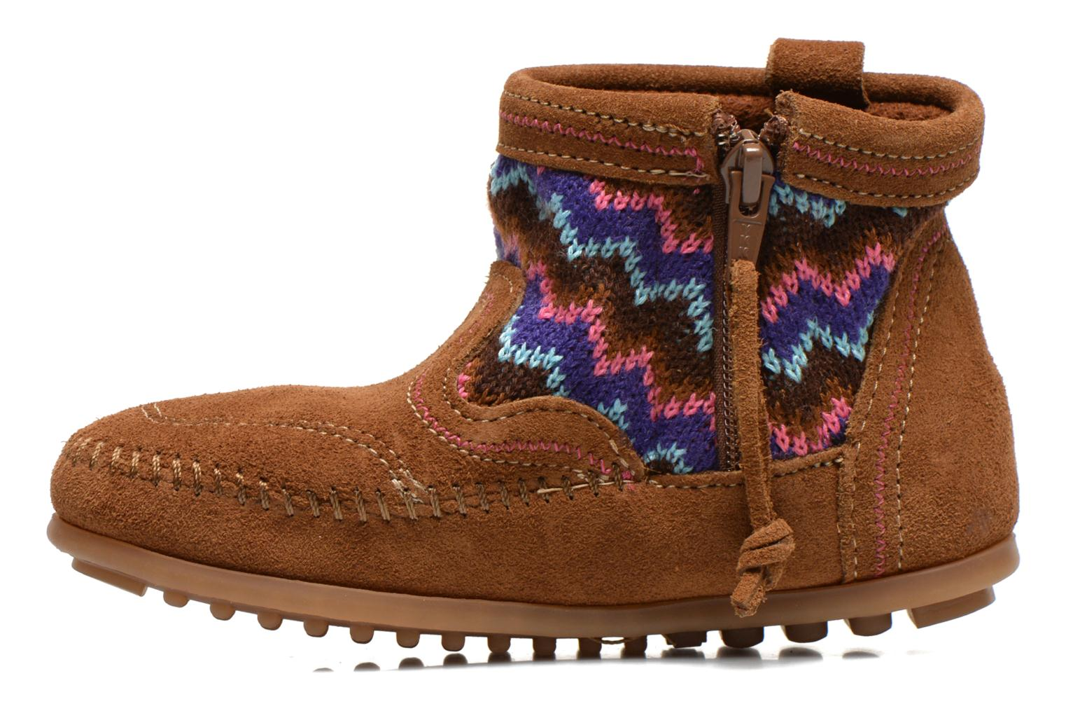 Ankle boots Minnetonka Aspen Boot Brown front view