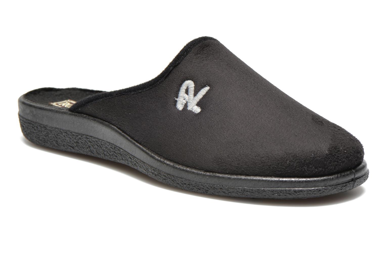 Slippers Rondinaud Gaubertin Black detailed view/ Pair view