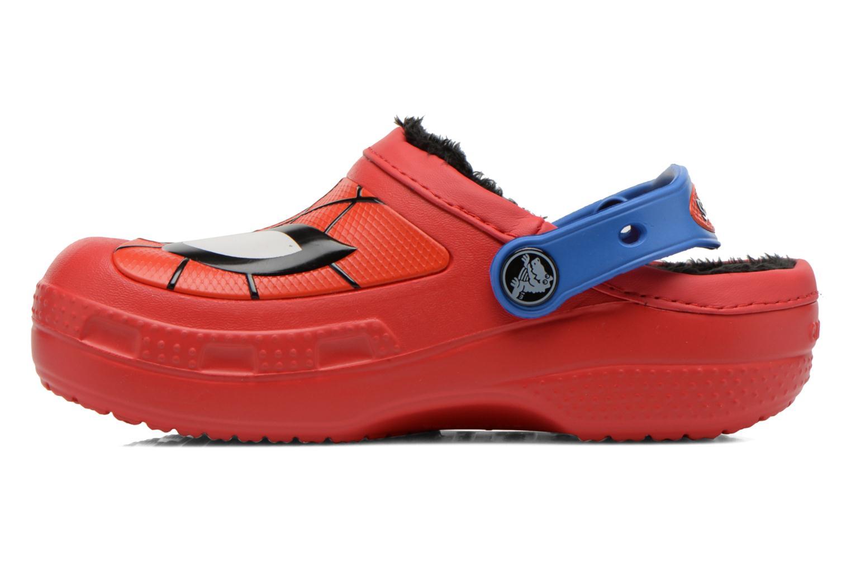 Sandaler Crocs CC Spiderman Lined Clog Rød se forfra