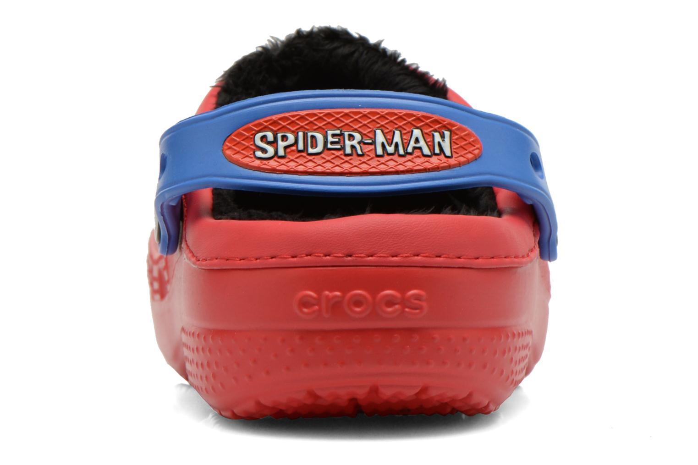 Sandaler Crocs CC Spiderman Lined Clog Rød Se fra højre