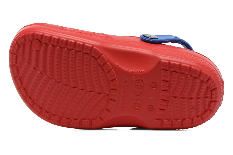 Sandalen Crocs CC Spiderman Lined Clog rot ansicht von oben