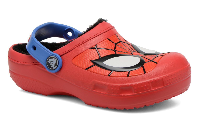 Sandales et nu-pieds Crocs CC Spiderman Lined Clog Rouge vue détail/paire