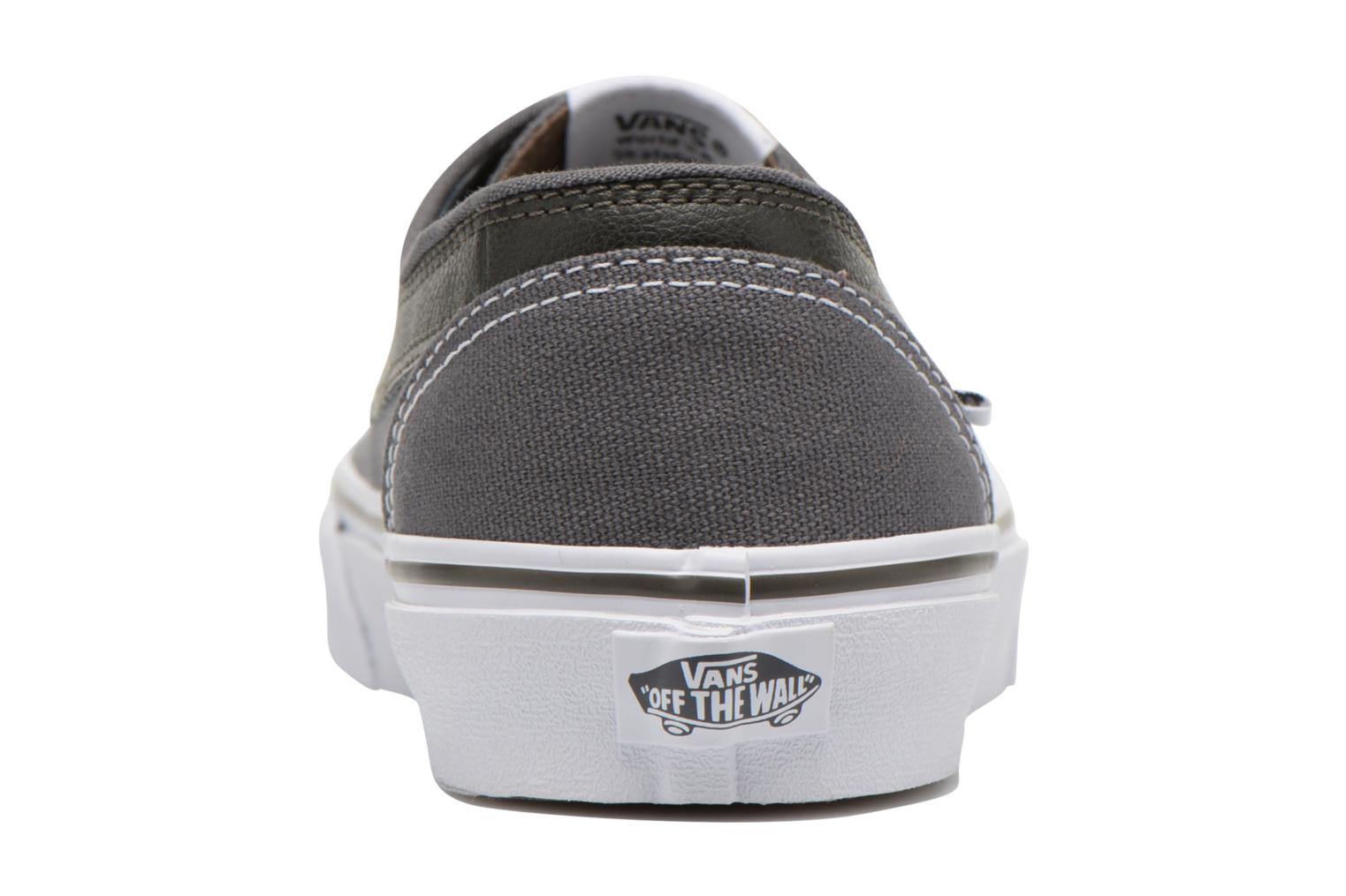Trainers Vans Brigata Grey view from the right