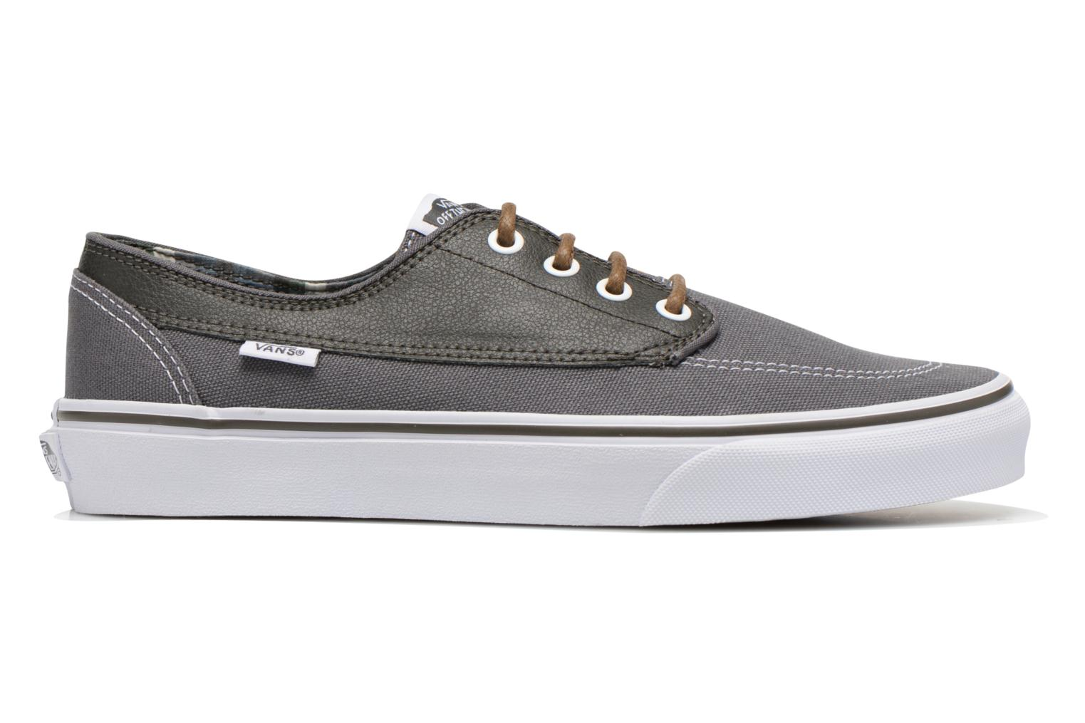 Trainers Vans Brigata Grey back view
