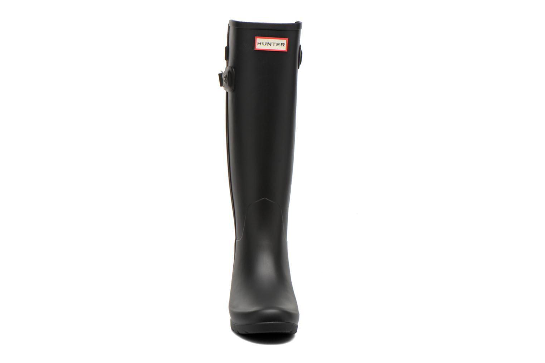 Stiefel Hunter Original Refined Back Strap schwarz schuhe getragen