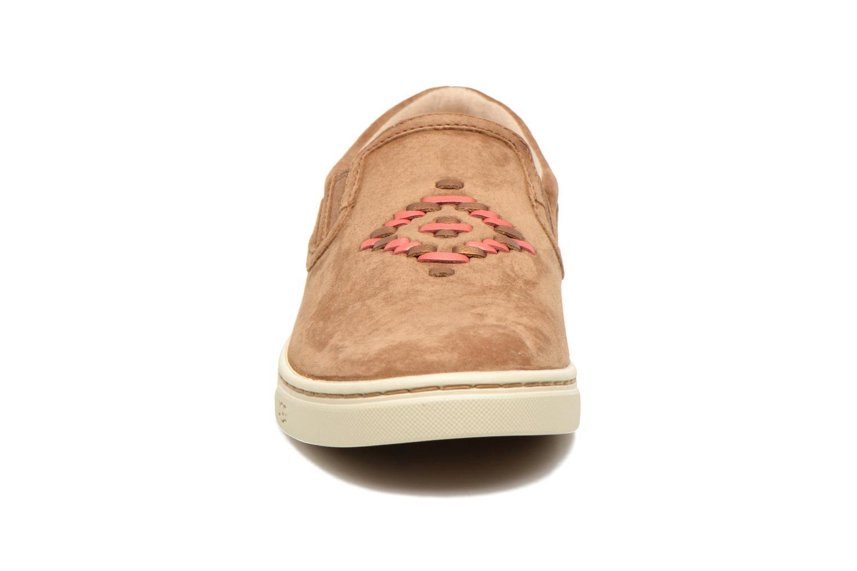 Baskets UGG Fierce Rustic Weave Marron vue portées chaussures