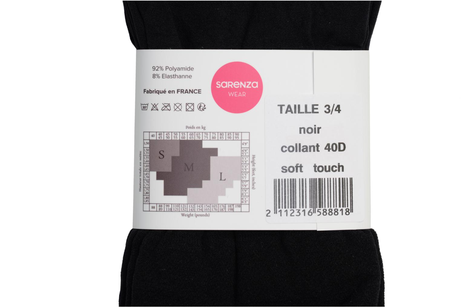 Chaussettes et collants Sarenza Wear Collant soft touch Noir vue face