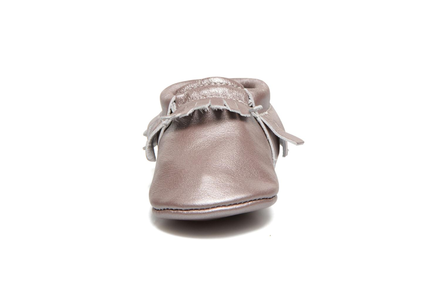 Chaussons Hippie Ya Mocassins Pink Pearl Rose vue portées chaussures