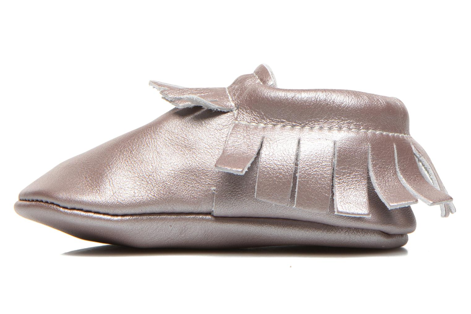 Chaussons Hippie Ya Mocassins Pink Pearl Rose vue face