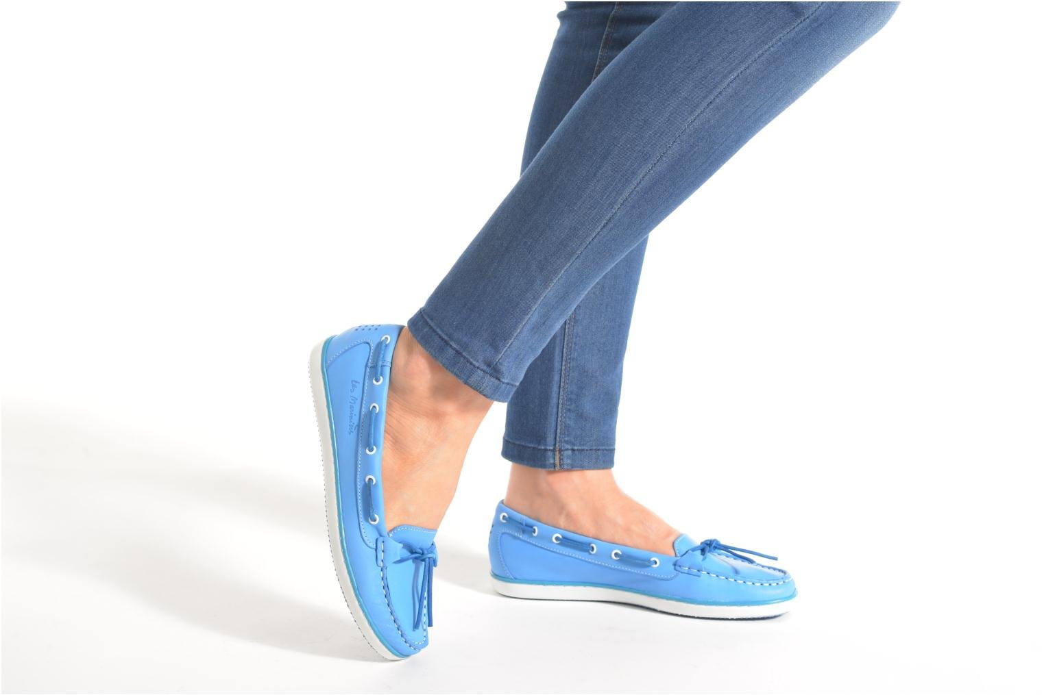 Loafers TBS Cadice Blue view from underneath / model view