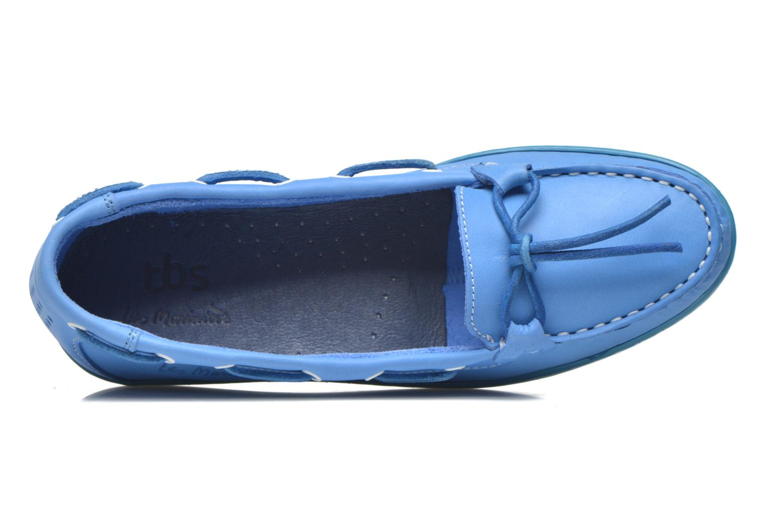 Loafers TBS Cadice Blue view from the left