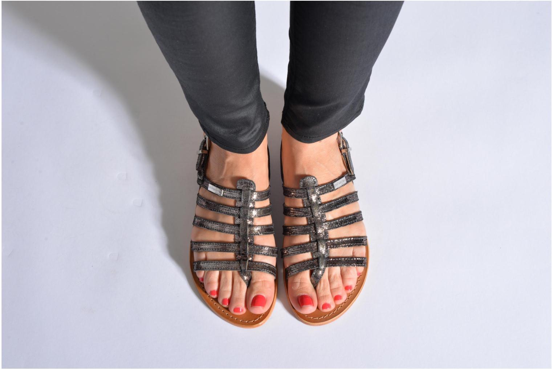 Sandalen Les Tropéziennes par M Belarbi Hercris schwarz ansicht von unten / tasche getragen