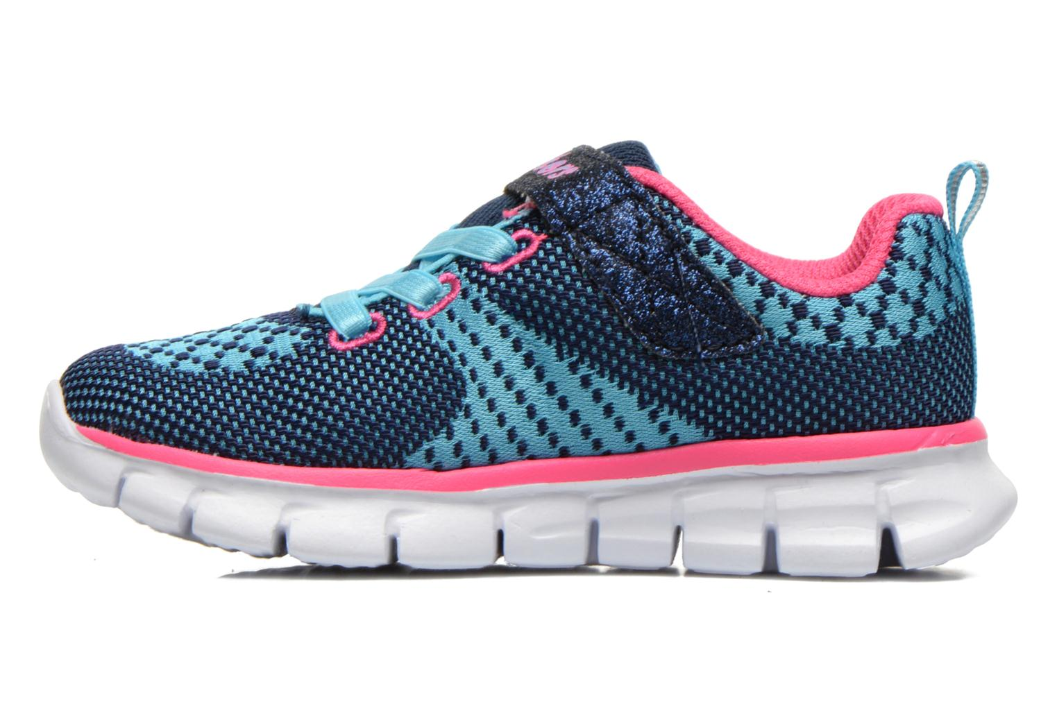 Sneakers Skechers Synergy Lil Bubbly Blauw voorkant