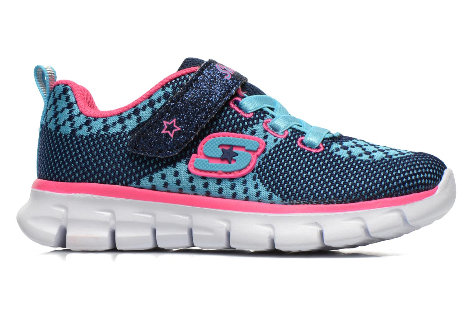 Sneakers Skechers Synergy Lil Bubbly Blå se bagfra