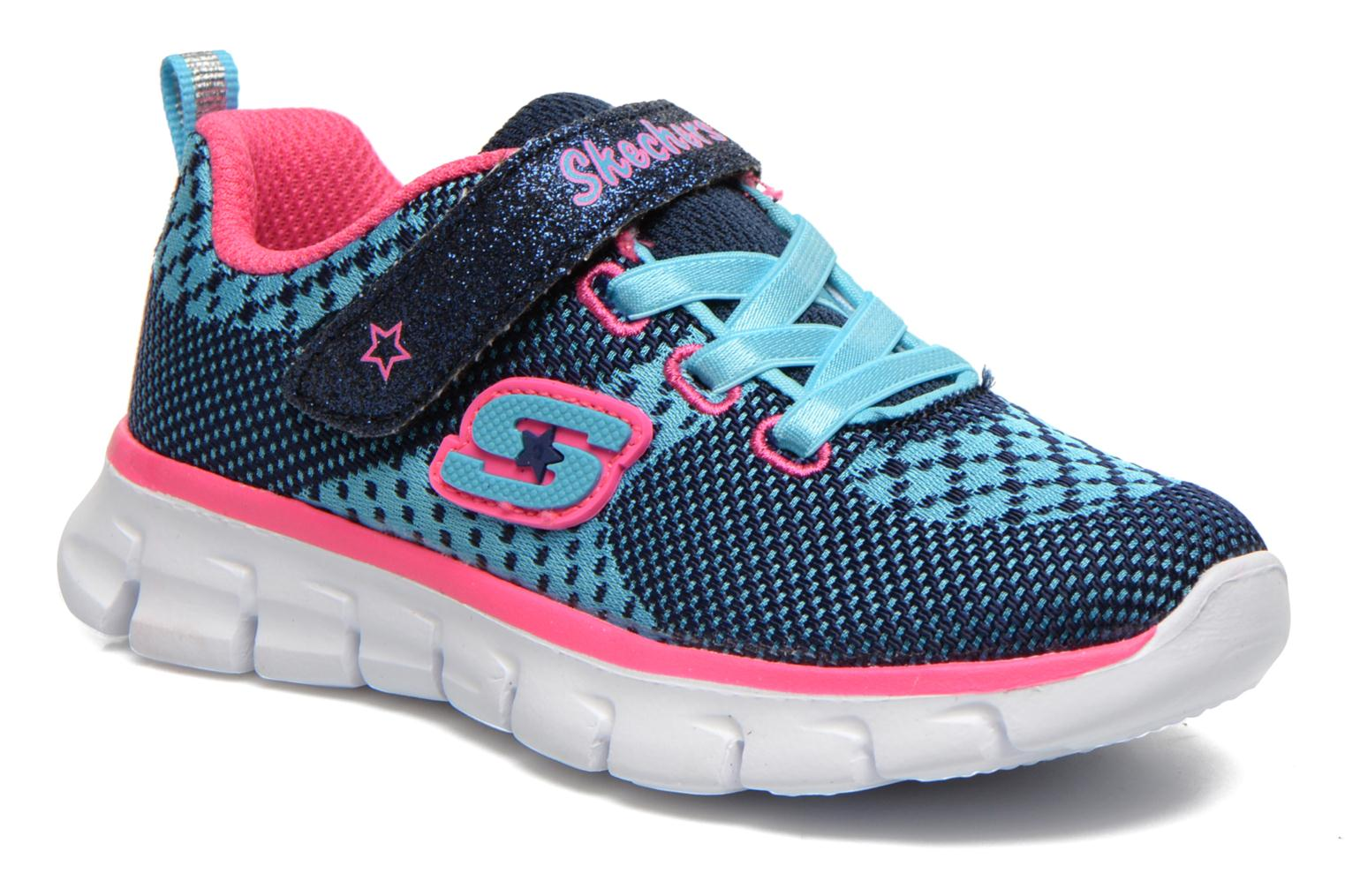 Sneakers Skechers Synergy Lil Bubbly Blauw detail
