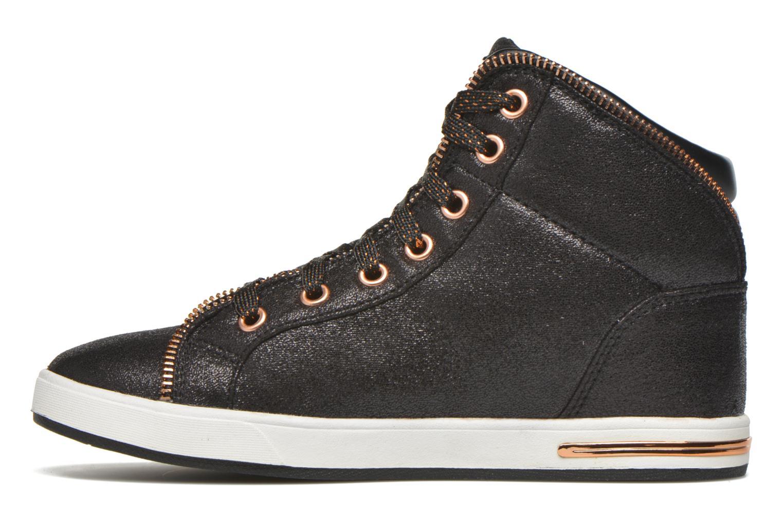 Sneakers Skechers Shoutouts Zipsters Zwart voorkant