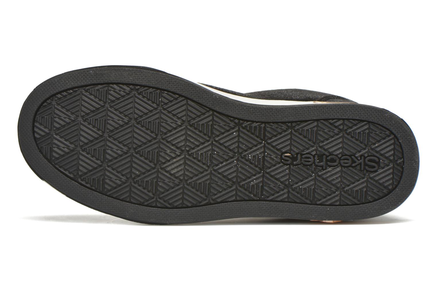 Trainers Skechers Shoutouts Zipsters Black view from above