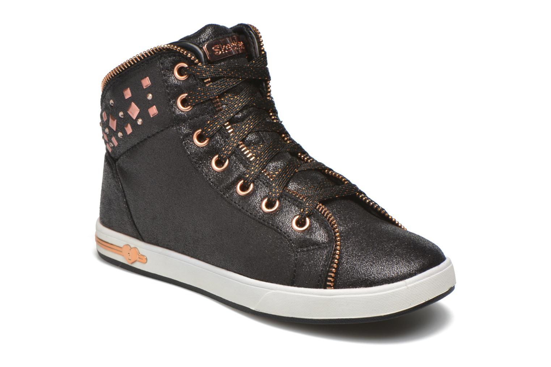 Sneakers Skechers Shoutouts Zipsters Zwart detail