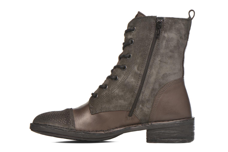 Boots en enkellaarsjes Khrio Sylvia Beige voorkant