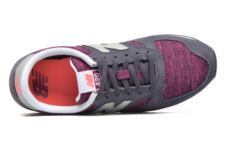 Baskets New Balance WL420 Violet vue gauche