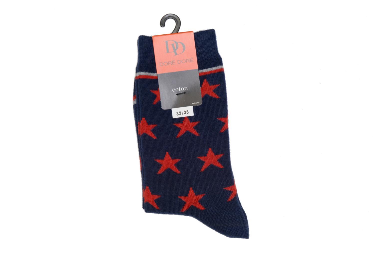 Calcetines STARS 045 - bleu / rouge