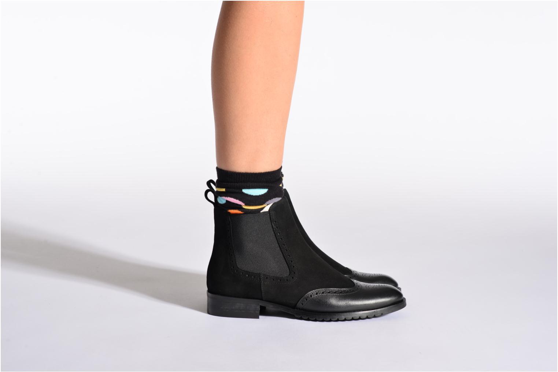 Chaussettes et collants Happy Socks Chaussettes BIG DOT Noir vue portées chaussures