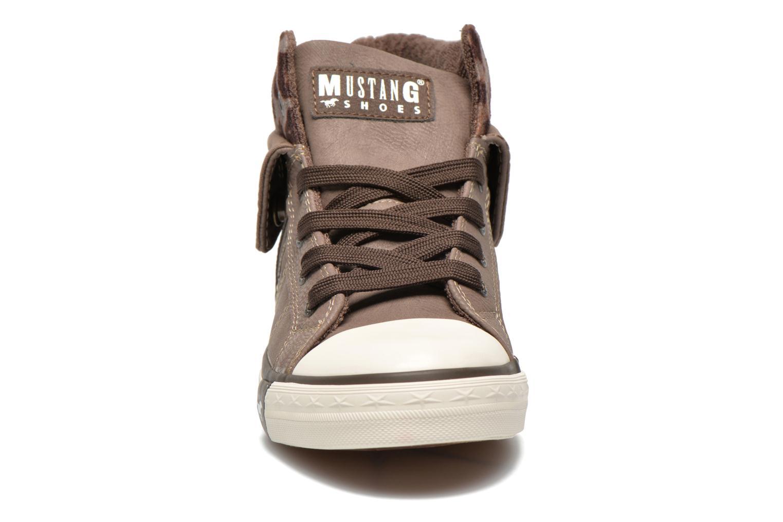 Baskets Mustang shoes Elena Gris vue portées chaussures