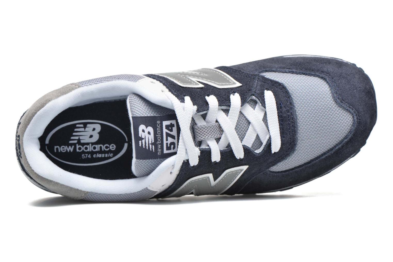Sneaker New Balance KL574 J blau ansicht von links