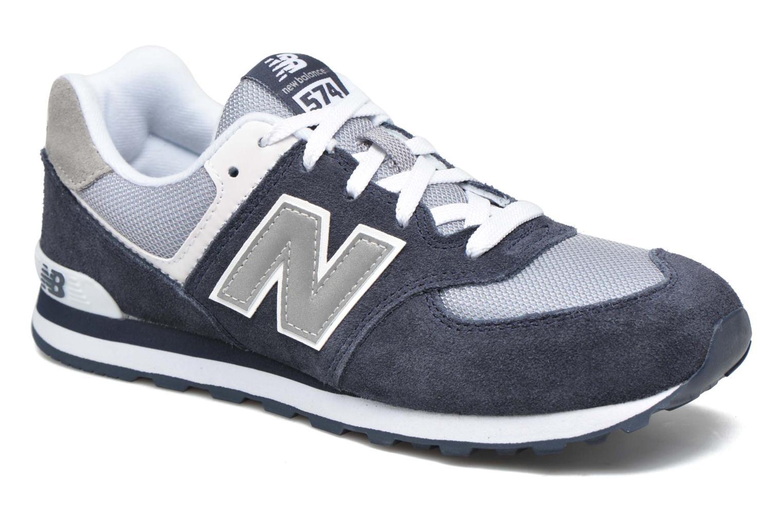Sneakers New Balance KL574 J Blå detaljerad bild på paret