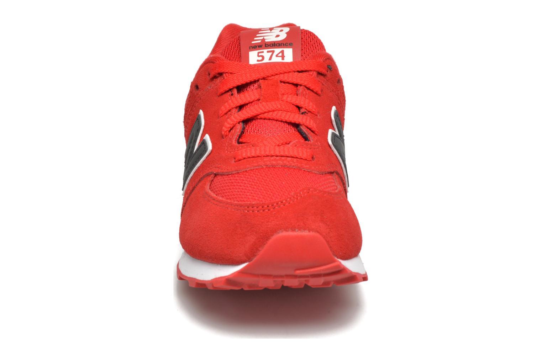 Sneakers New Balance KL574 J Rosso modello indossato