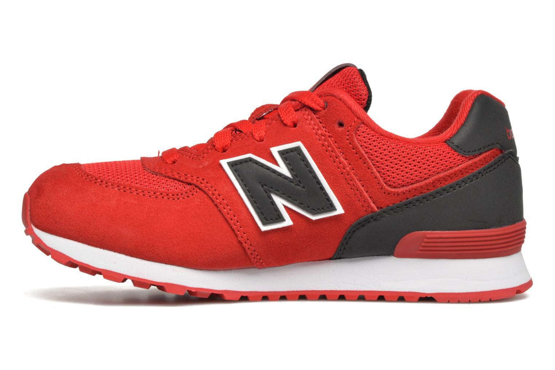 Sneaker New Balance KL574 J rot ansicht von vorne