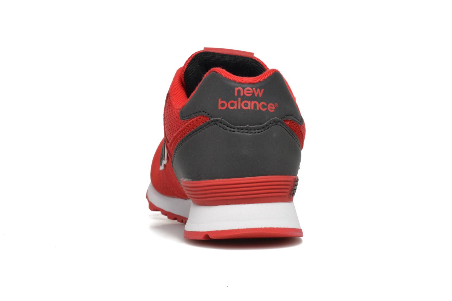 Trainers New Balance KL574 J Red view from the right