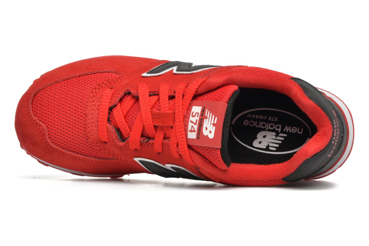 Trainers New Balance KL574 J Red view from the left