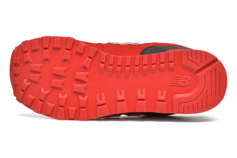 Sneaker New Balance KL574 J rot ansicht von oben