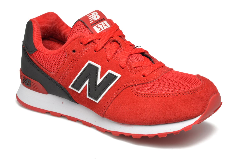 Sneaker New Balance KL574 J rot detaillierte ansicht/modell