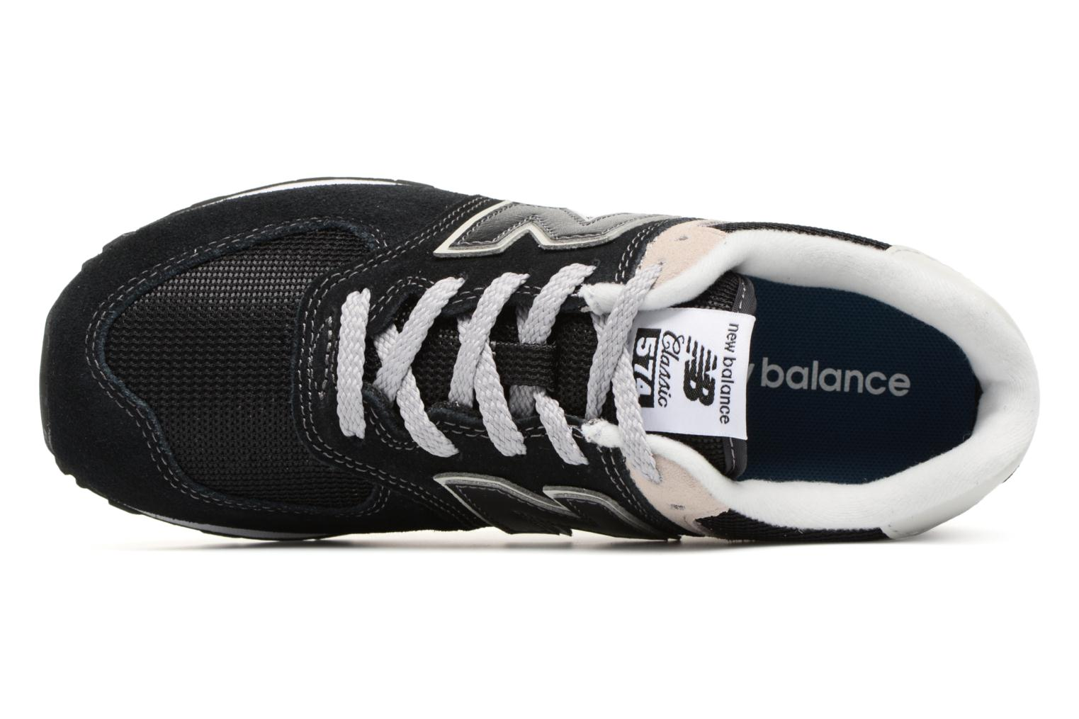 Trainers New Balance KL574 J Black view from the left