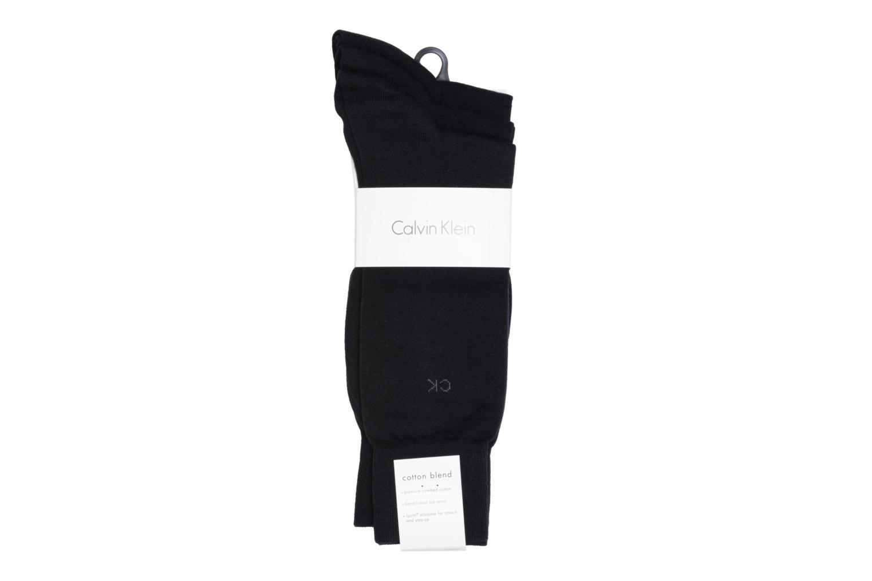 Chaussettes et collants Calvin Klein Chaussettes BASICS Pack de 3 Noir vue portées chaussures