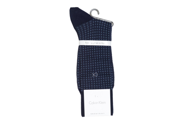 Chaussettes et collants Calvin Klein Chaussettes SQUARES Bleu vue portées chaussures