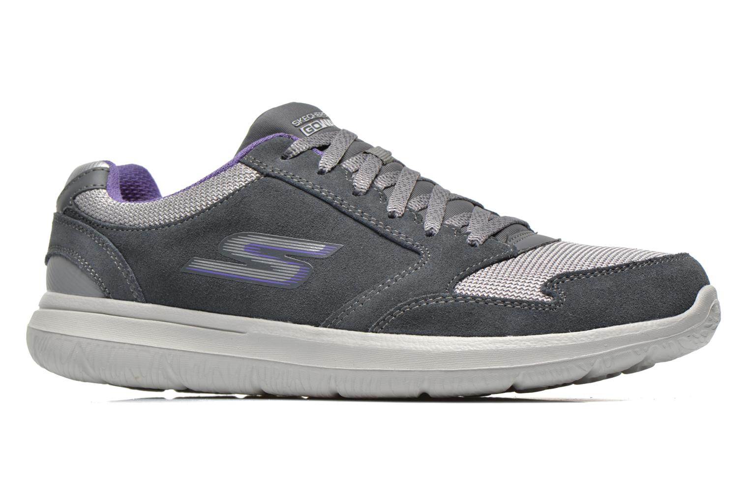 Sneakers Skechers GO Walk City Champion 13827 Grijs achterkant