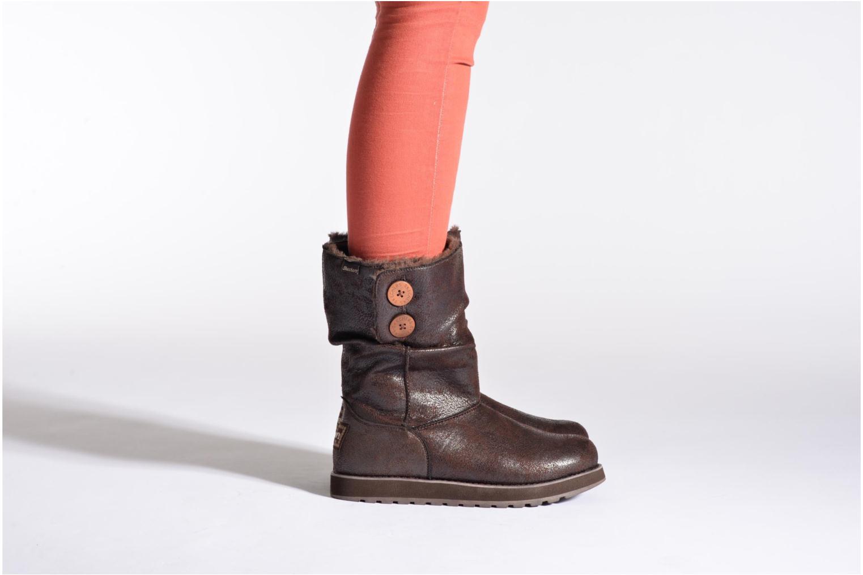 Bottines et boots Skechers Keepsakes Leather-Esque 48367 Noir vue bas / vue portée sac