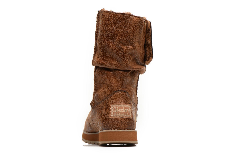 Boots Skechers Keepsakes Leather-Esque 48367 Brun Bild från höger sidan