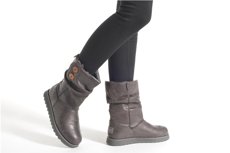 Stiefeletten & Boots Skechers Keepsakes Leather-Esque 48367 grau ansicht von unten / tasche getragen