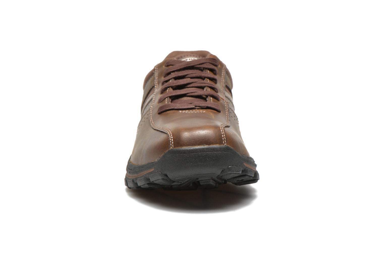 Sneaker Skechers Braver Alfano 64529 braun schuhe getragen