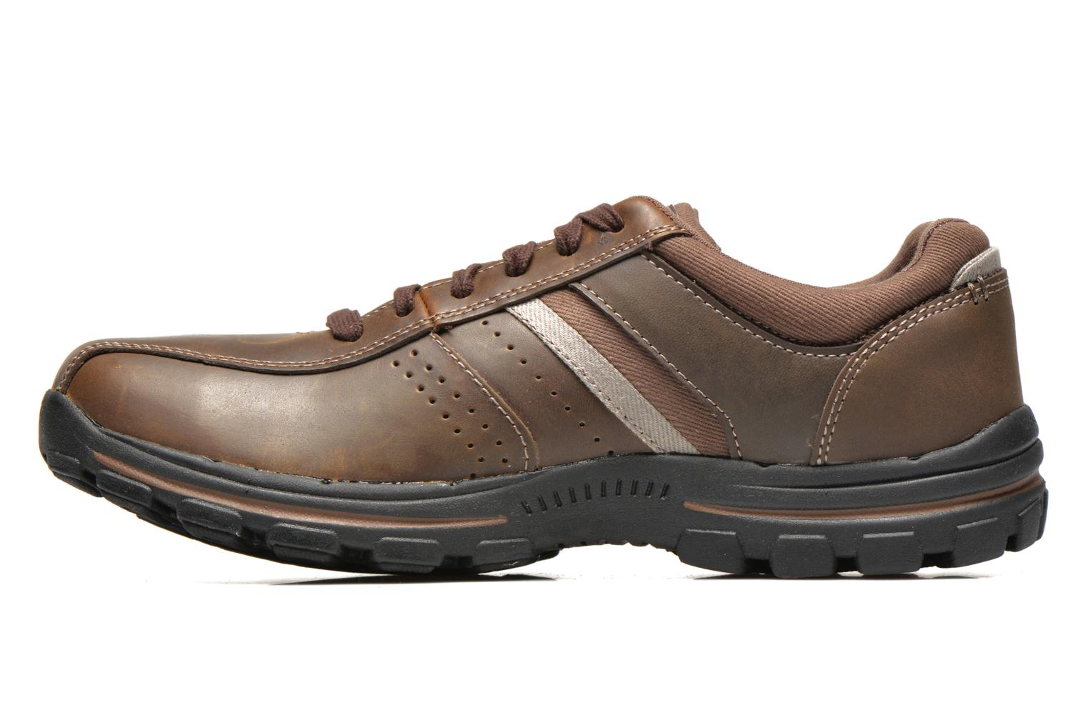 Trainers Skechers Braver Alfano 64529 Brown front view